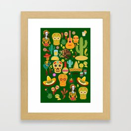 Fiesta Time! Mexican Icons Framed Art Print