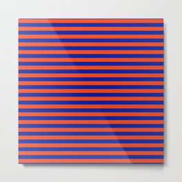 Florida Team Colors Stripes Metal Print