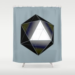 Icosahedron Shower Curtain