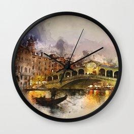 Venezia, Canal Grande Wall Clock