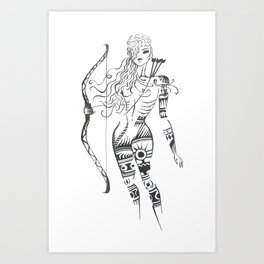 Amazonian spirit Art Print