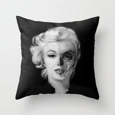 Dead Celebrities Series Half Skull Throw Pillow
