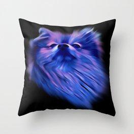 Purple Pomeranian Throw Pillow