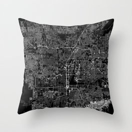 Las Vegas Black Map Throw Pillow