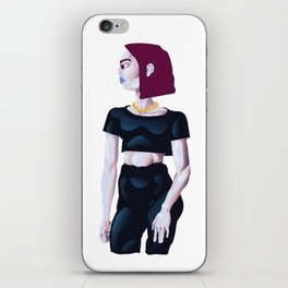 Red Head Gurl iPhone Skin