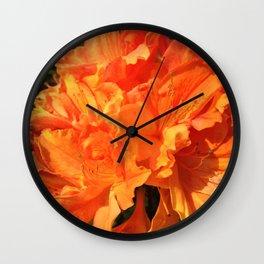 Orange Azaleas Wall Clock