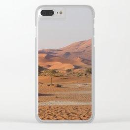 Desert textures - Sossusvlei desert, Namibia Clear iPhone Case