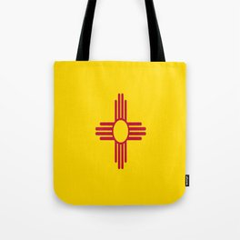 flag new mexico-usa,america,sun,Zia Sun symbol,New Mexican,Albuquerque,Las Cruces,santa fe,roswell Tote Bag