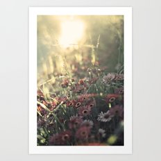 so here we are Art Print