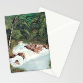 Woodland Waterfall Stationery Cards