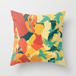 And A Little Girl Who Only Wished To Fly Throw Pillow