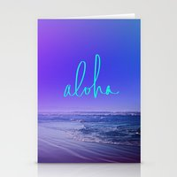 aloha Stationery Cards featuring Aloha by Leah Flores