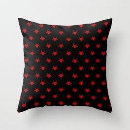 goat patterns black and red 1 Throw Pillow