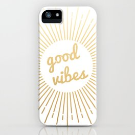 good vibes (gold) iPhone Case