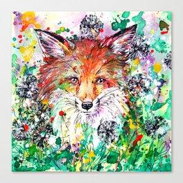 Hide and Seek - Fox Painting Canvas Print