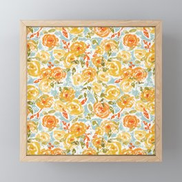 Winter Florals Framed Mini Art Print