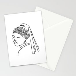 Girl with a pearl earring Stationery Cards