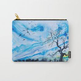 Birds above the hill Carry-All Pouch
