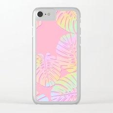 Unicorn Monstera Clear iPhone Case