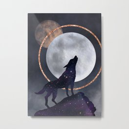 Howling at the moon! Metal Print