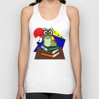 bookworm Tank Tops featuring Bookworm 2 by Charles Oliver