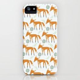 Foxy Pattern iPhone Case