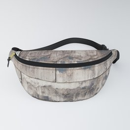 wall from modern eco stones recycling material Fanny Pack