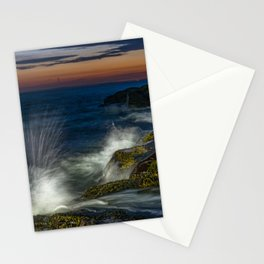 Peggys cove sunset Stationery Cards