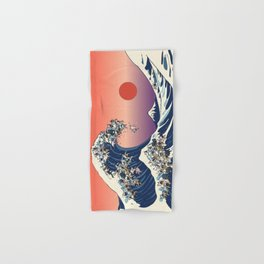 The Great Wave Of  French Bulldog Hand & Bath Towel