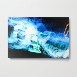 Radio Blue Metal Print