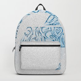 Tribal Ocean Blue Backpack