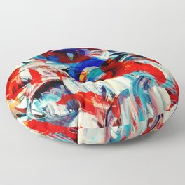 Abstract Action American Painting Floor Pillow