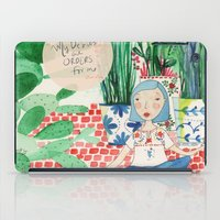 oscar wilde iPad Cases featuring Mexican Princess thinks of Oscar Wilde by vebeche