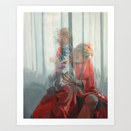Holy Family (Red Riding Hood) Art Print