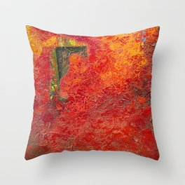Red Festival Throw Pillow