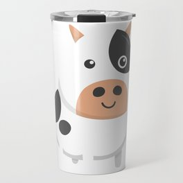 Adorable Cow & Cute Baby Calf Cow Lovers Travel Mug