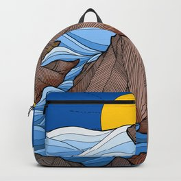 The rocky sea cliffs Backpack