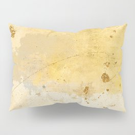 Gold and Yellow Brush Stroke Abstract Pillow Sham