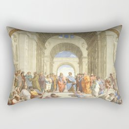 Raffaello Sanzio : The school of Athens Rectangular Pillow
