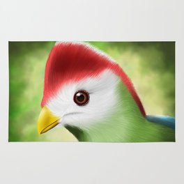 Red crested turaco Rug