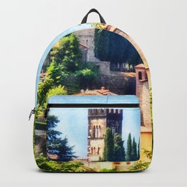 Duomo of Barga (color) Backpack