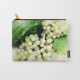 Green Grapes Watercolor Carry-All Pouch
