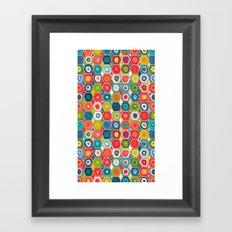squid hex Framed Art Print
