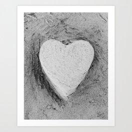 Sand Castle Heart Art Print