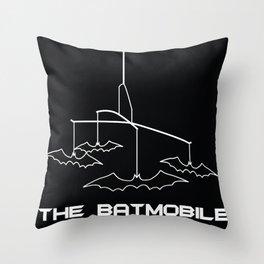 The Batmobile Throw Pillow