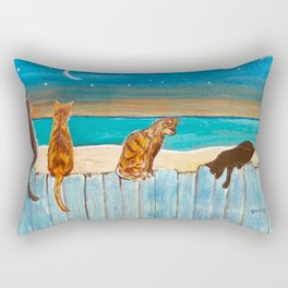 Cats on a Fence Rectangular Pillow