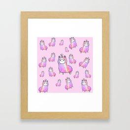 Pinky lama Framed Art Print