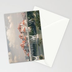 Red rooftops Stationery Cards