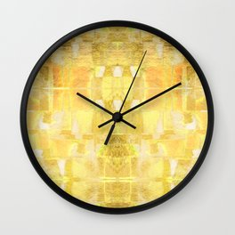 Babalon - Gold Metallic Soft Mid Century Pattern Wall Clock