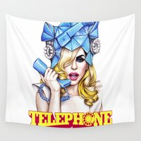 telephone Wall Tapestries featuring Telephone by Denda Reloaded